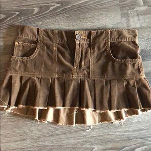 Vintage Corduroy Abercrombie Pleated Mini Skirt